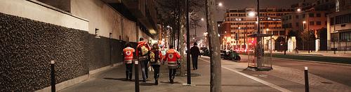 Maraudes avec la DL7515 (crédits : Mathilde Fuzeau, Croix-Rouge de Paris, via Flickr, 2011)